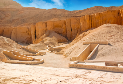 Valley of the Kings in Luxor city