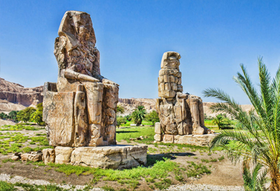 Memnon statues in Luxor City