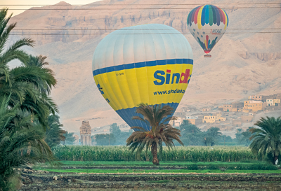 Balloon ride in Luxor City